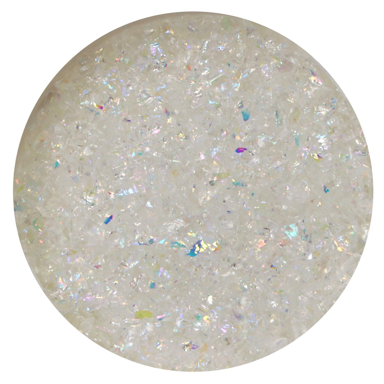 1 oz Rainbow Dichroic Medium Frit Flakes on Clear - 90 COE