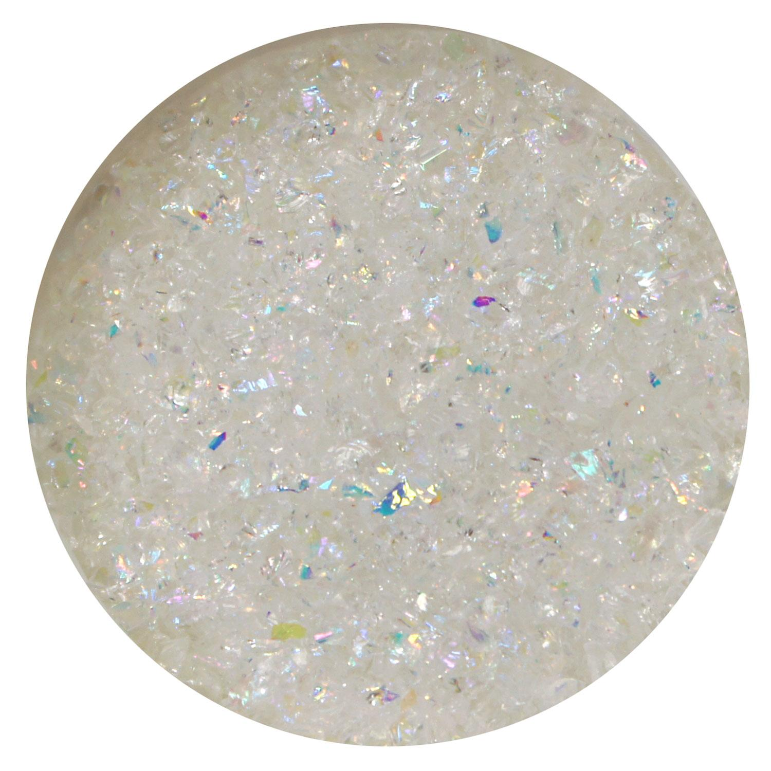 1 oz Rainbow Dichroic Medium Frit Flakes on Clear - 96 COE