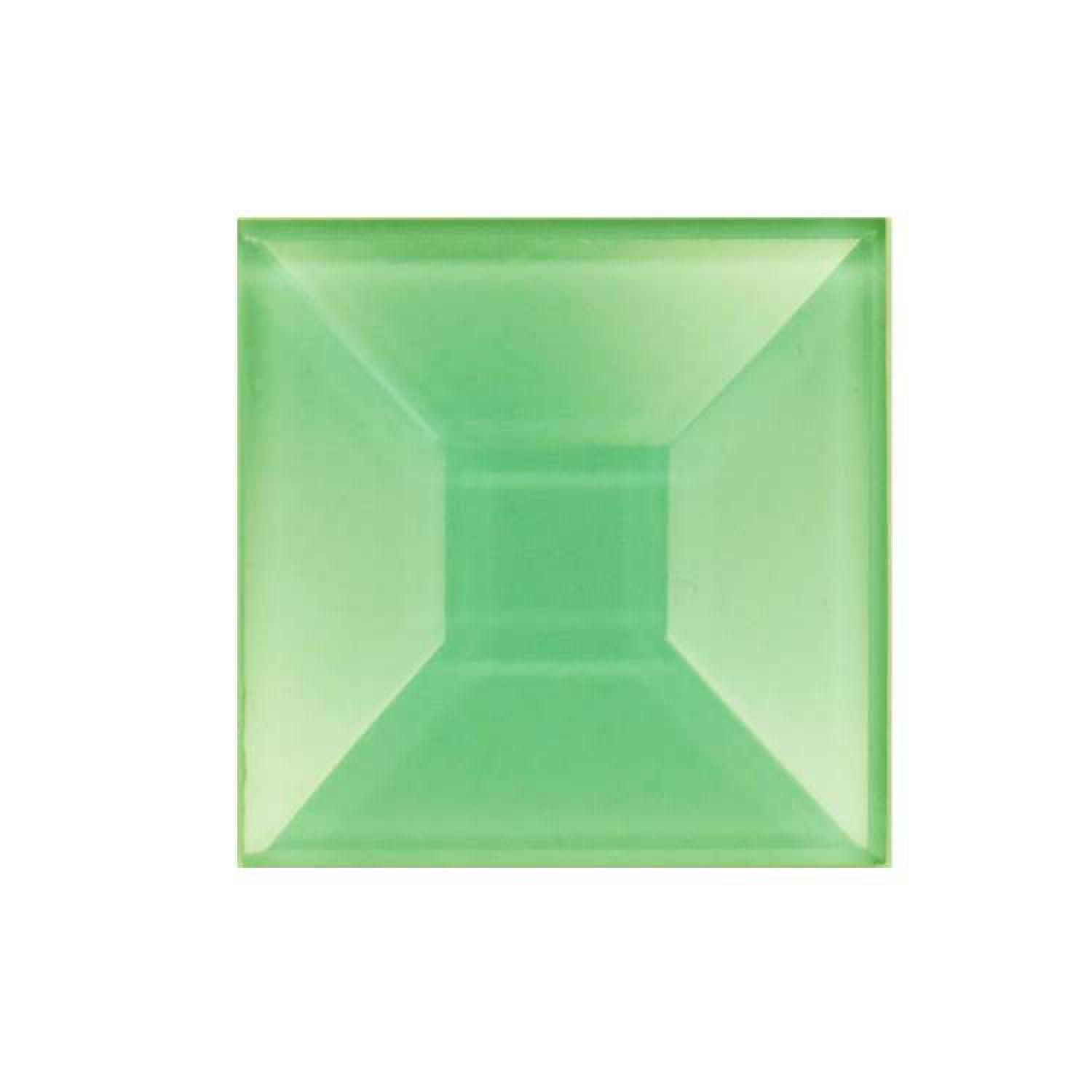 1 Square Green Bevel