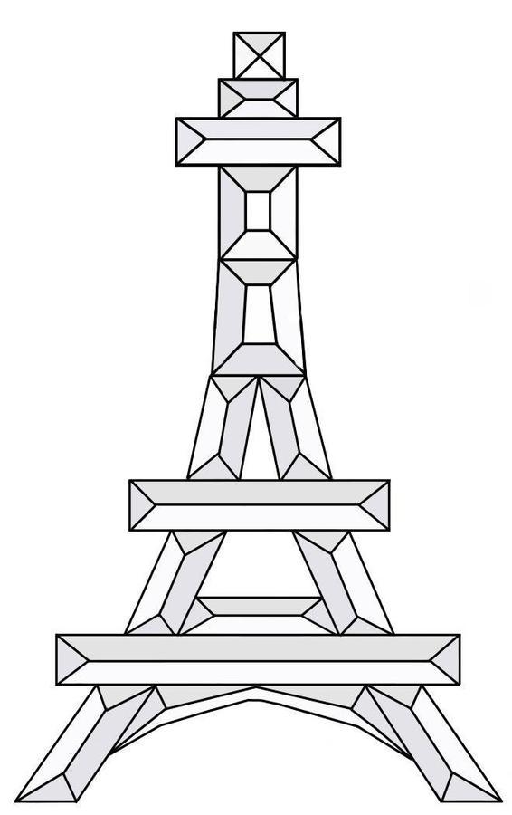Eiffel Tower Bevel Cluster