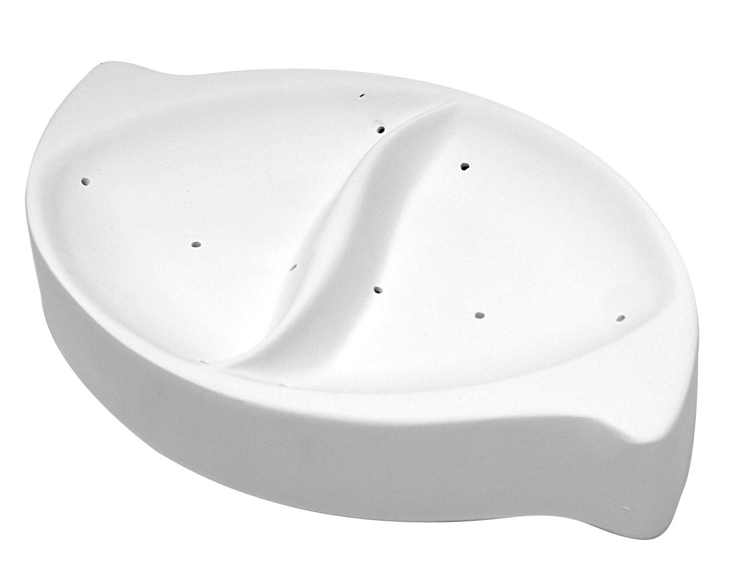 10-3/8 x 6-3/8 Oval Divided Dish Mold
