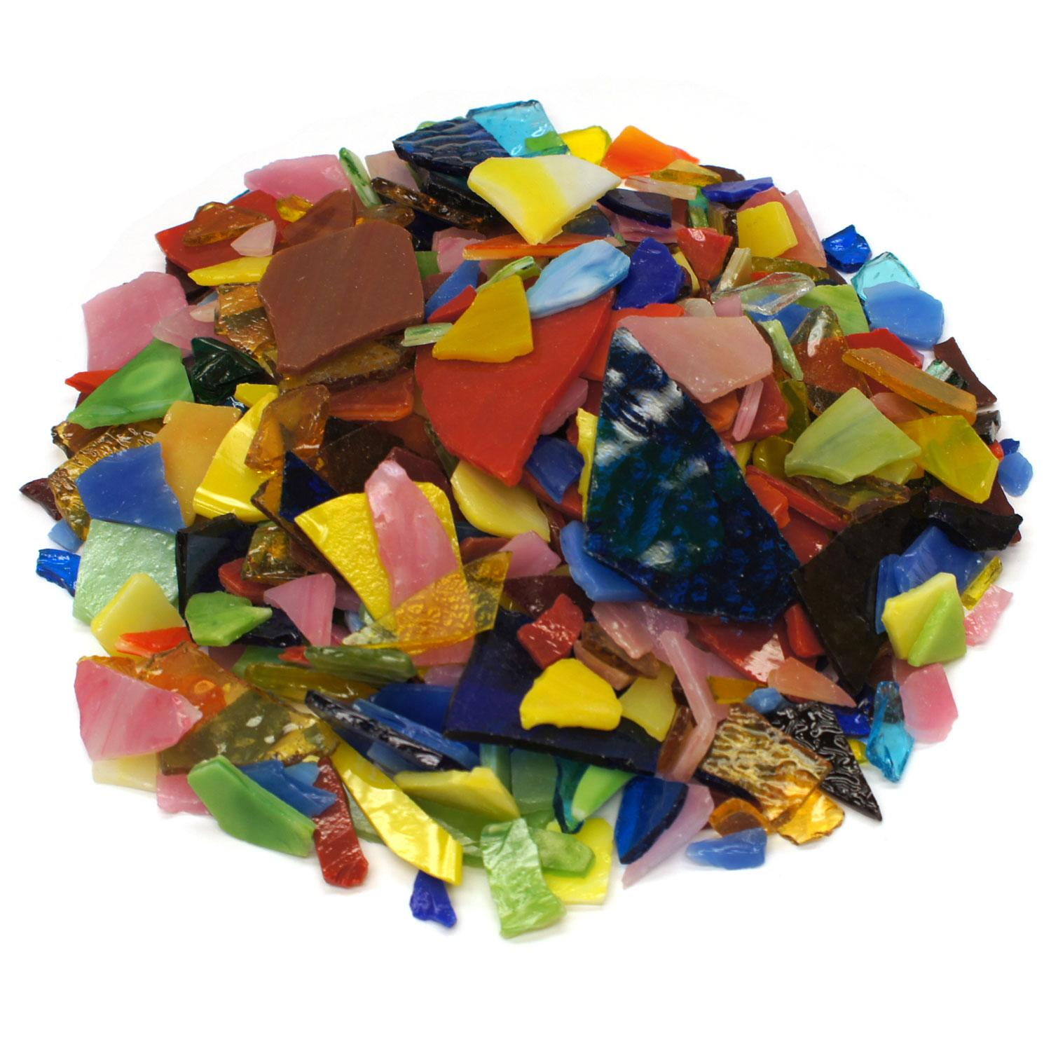 Bright Mix Mosaic Stained Glass Bits - 20 oz