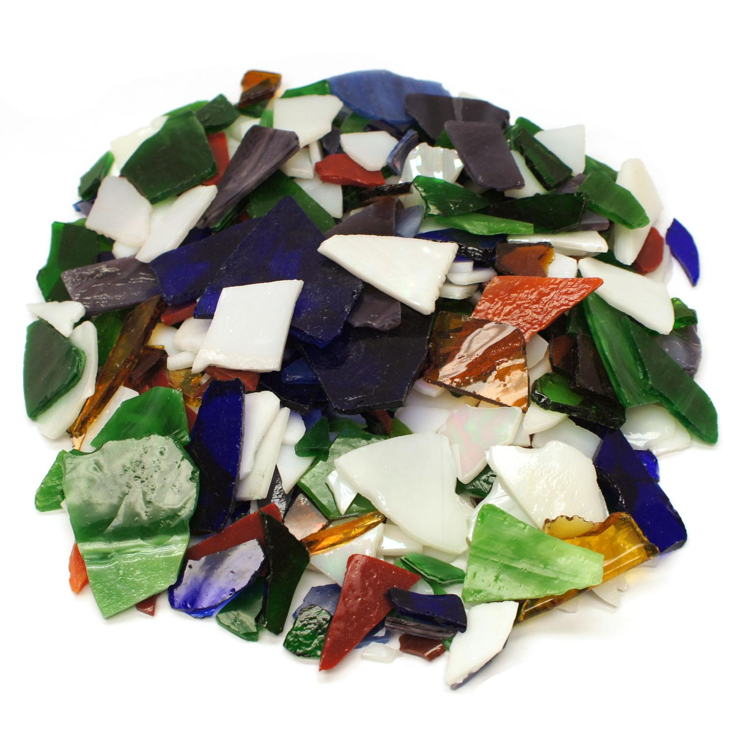 Primary Mix Mosaic Stained Glass Bits - 20 oz