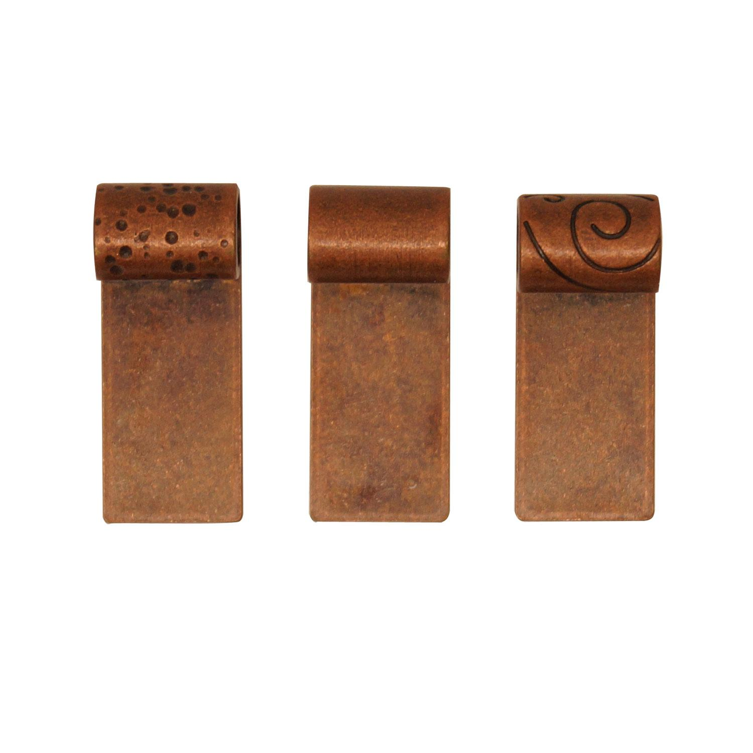 Antique Copper Finish Tube Bail Assortment - 10 Pack