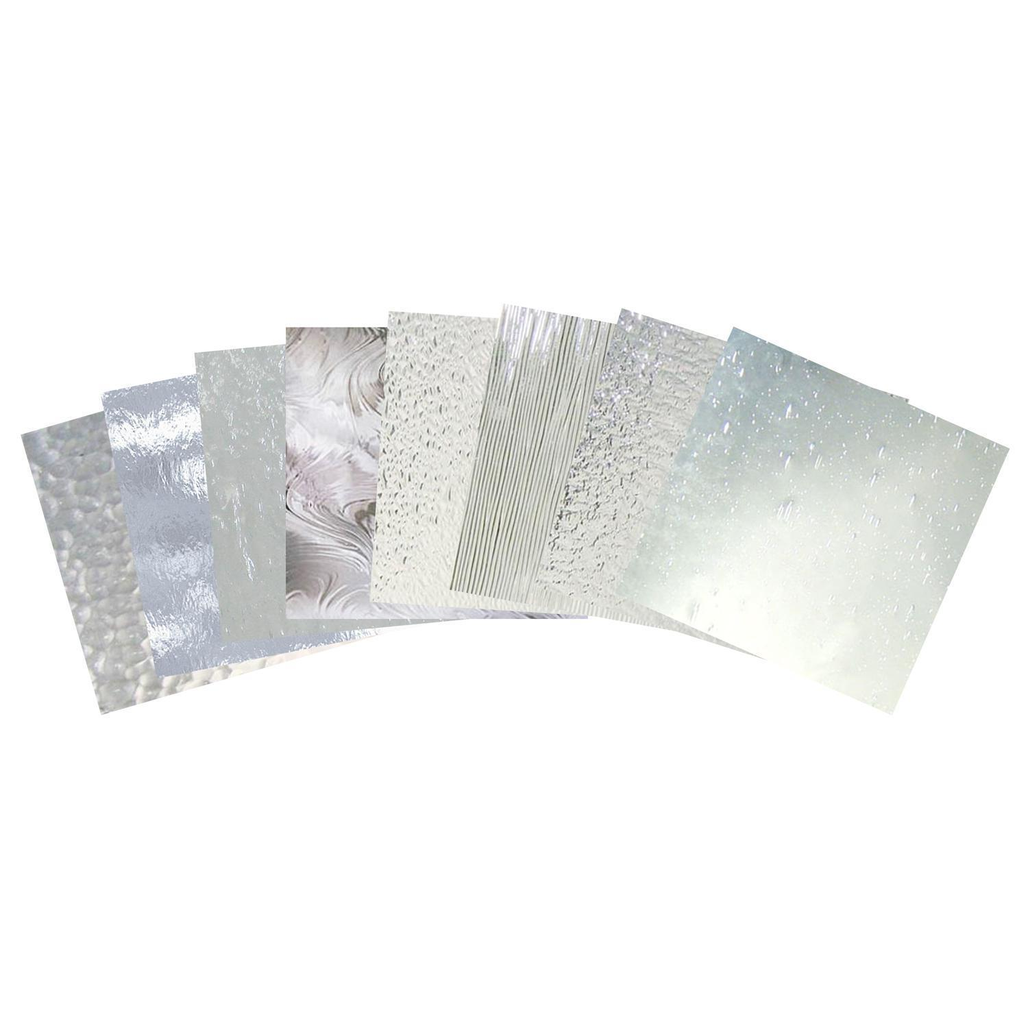 Clear Textured Glass Art Glass - Clear glass tiles 4x4