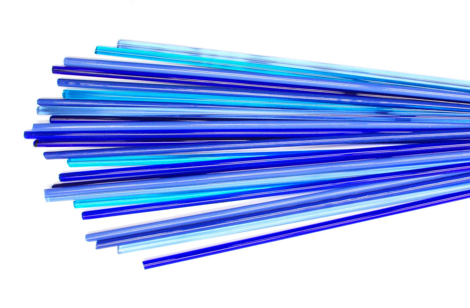Blue Me Away Effetre Rod Assortment - 104 COE