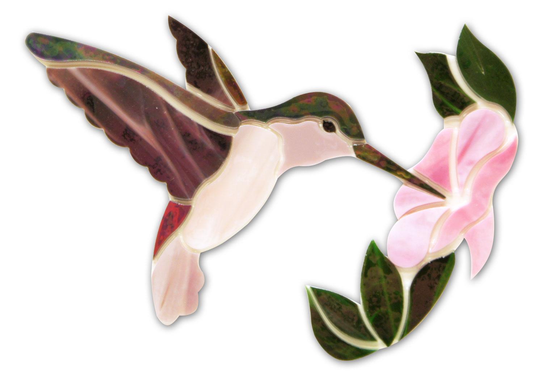Mauve Hummingbird With Flower Premium Pre-Cut Kit