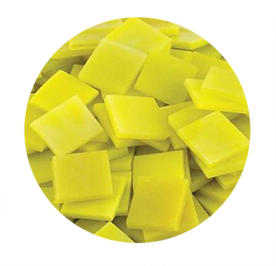 3/4 Yellow Opaque Stained Glass Chips - 48 Pieces