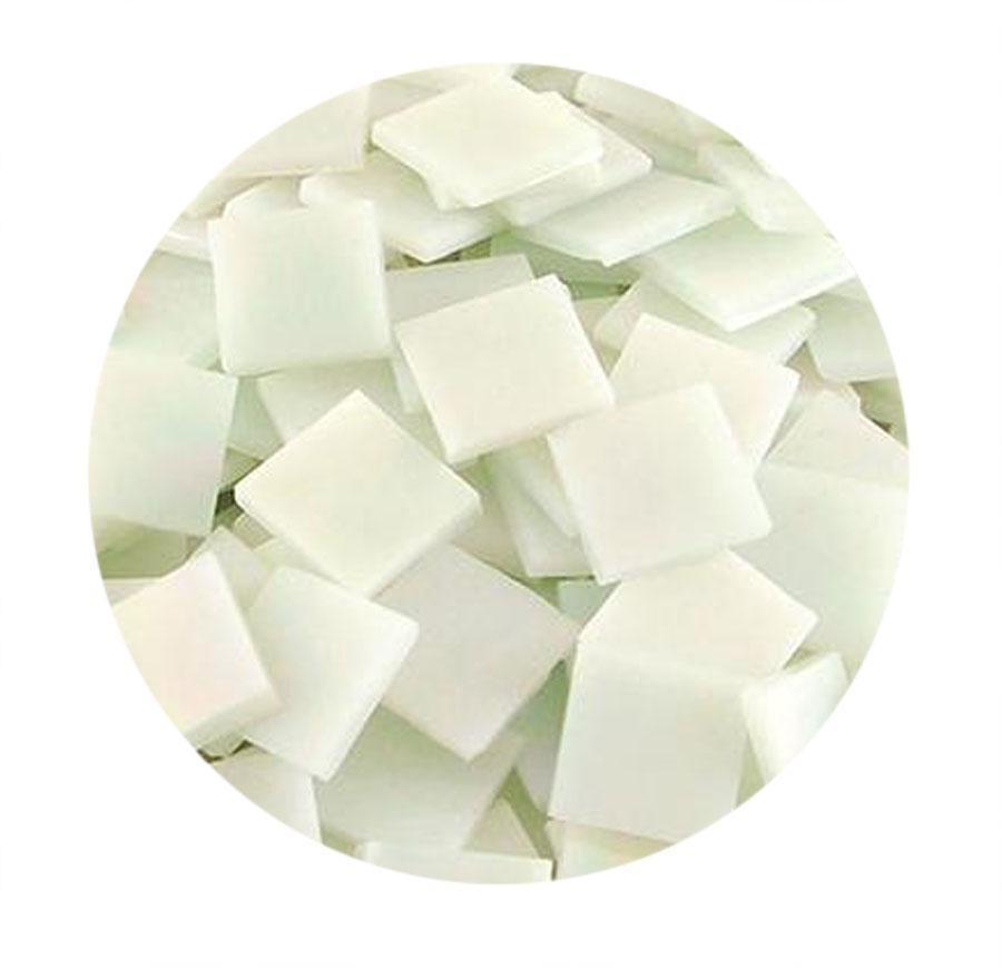 3/4 White Iridized Stained Glass Chips - 48 Pieces