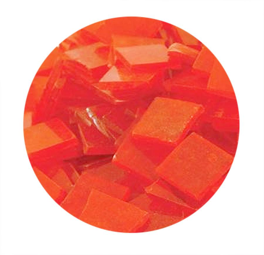 3/4 Orange Transparent Stained Glass Chips - 48 Pieces