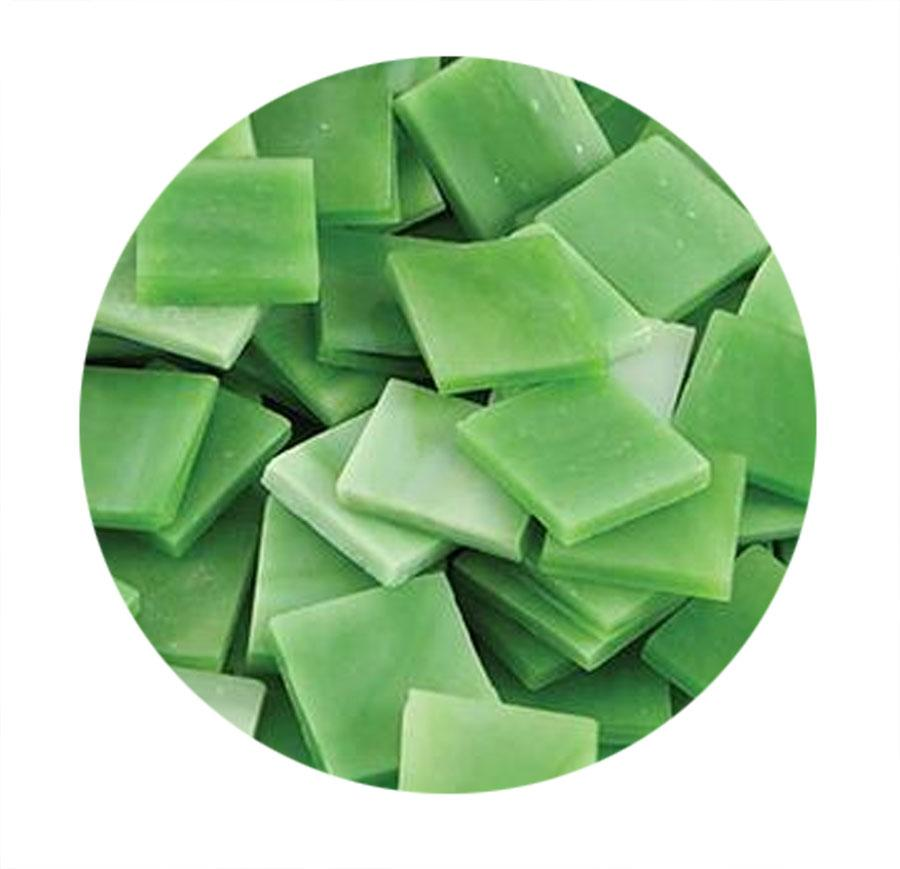 Light Green Opaque Stained Glass Chips - 48 Pieces