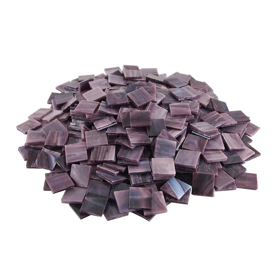 3/4 Purple Opaque Stained Glass Chips - 480 Pieces