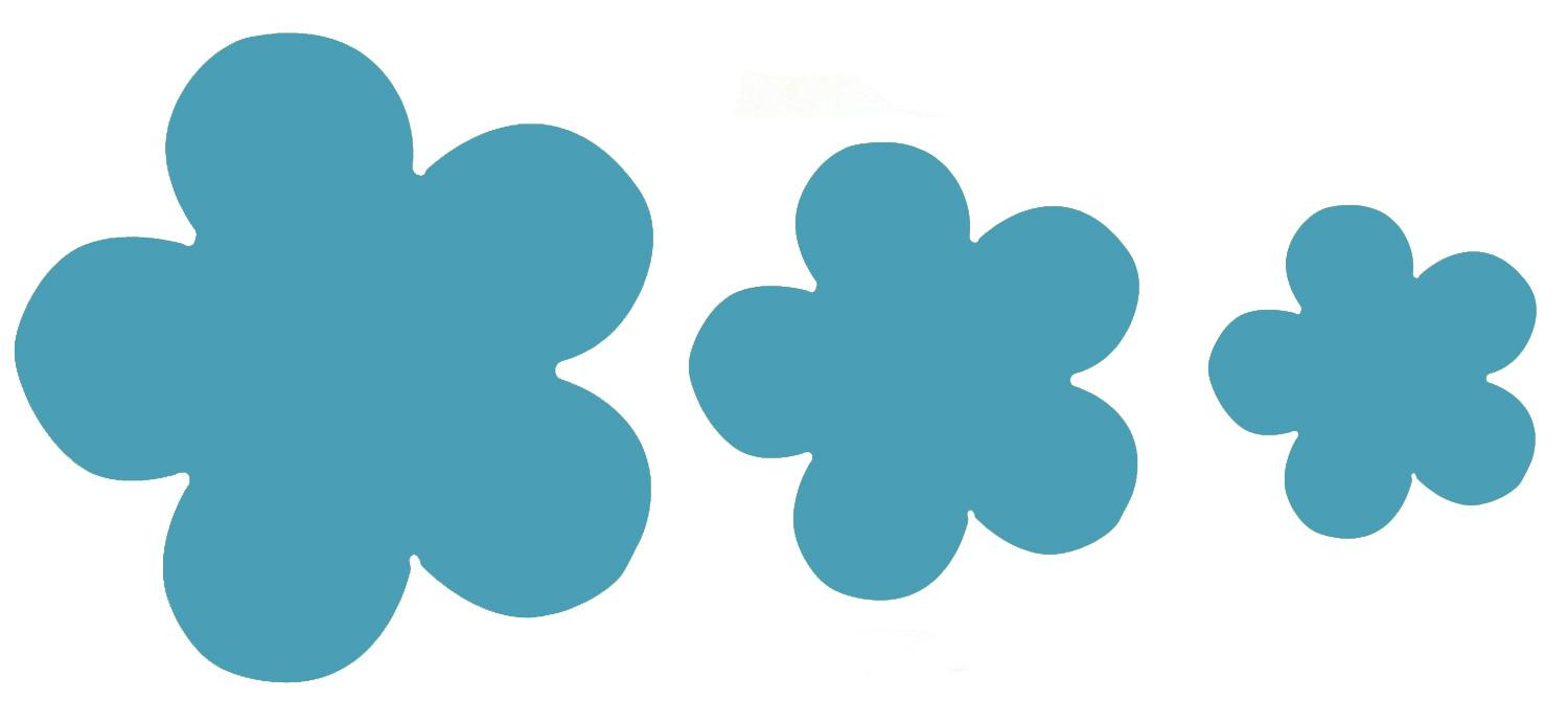 Turquoise Flower Fusible Pre-Cut Assortment 3 Pack - 90 COE