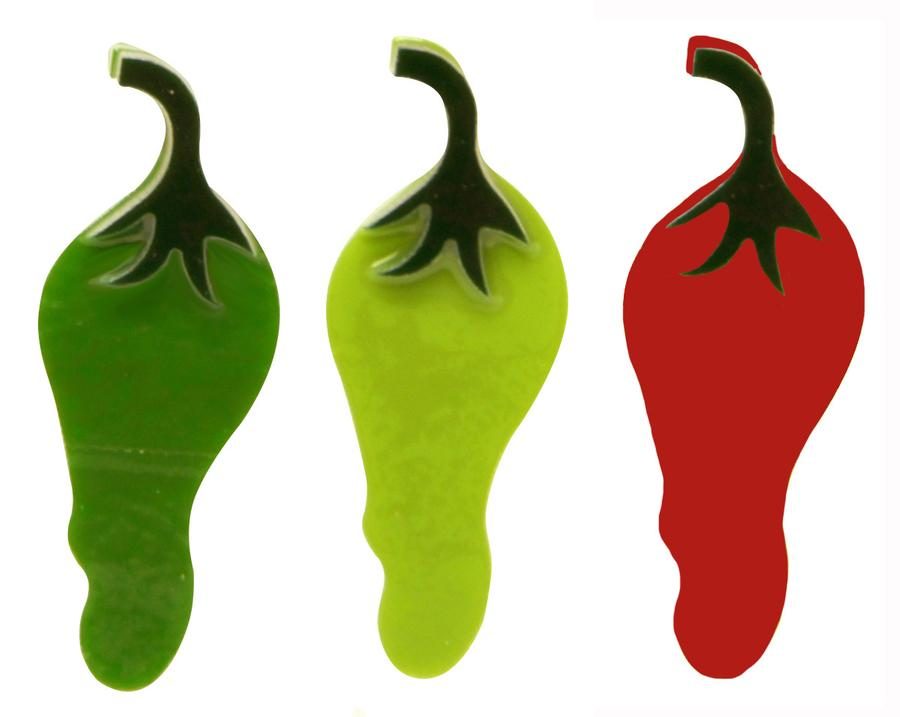 Chili Pepper Fusible Pre-Cut Assortment 3 Pack - 90 COE
