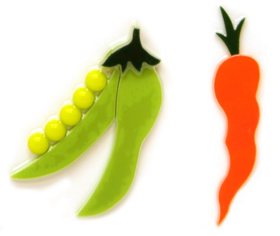 Pea and Carrot Fusible Pre-Cut 2 Pack - 90 COE