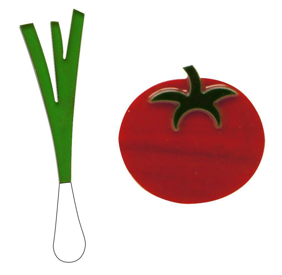 Tomato and Green Onion Fusible Pre-Cut 2 Pack - 96 COE