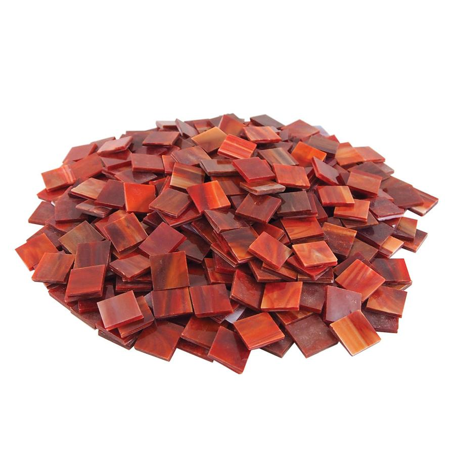 Red Stained Glass : Red opaque stained glass chips pieces delphi