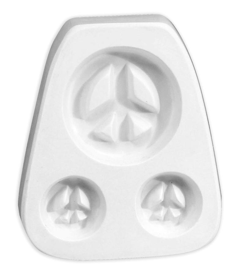 Peace Sign Trio Earring & Pendant Jewelry Mold