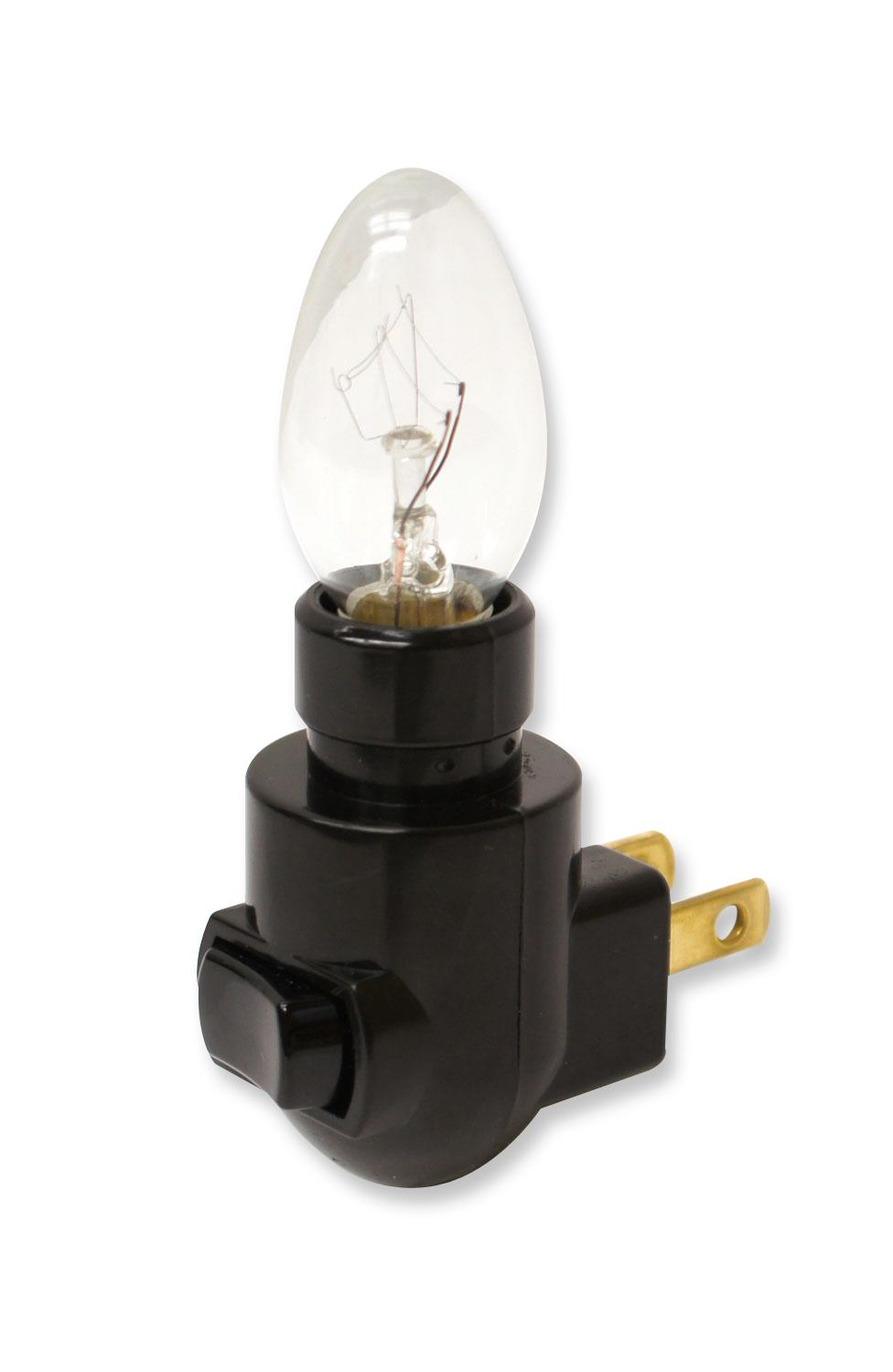 Black Night Light with 4w Bulb - 12 Pack