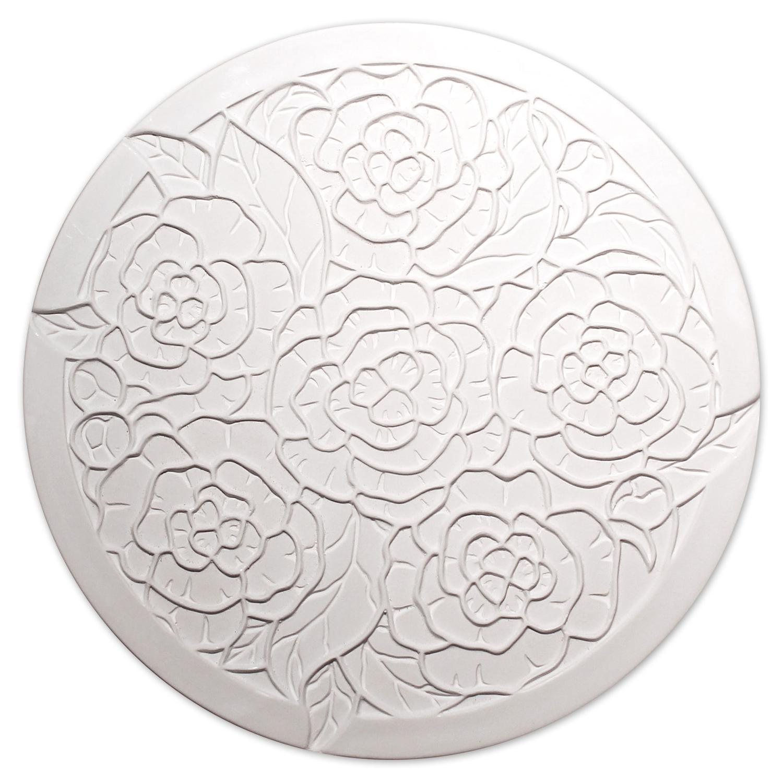 Peony Round Texture Mold
