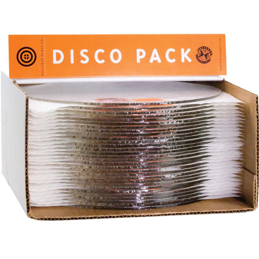 Bullseye Disco 30 Piece Pack 7-1/2 Clear Circles - 90 COE