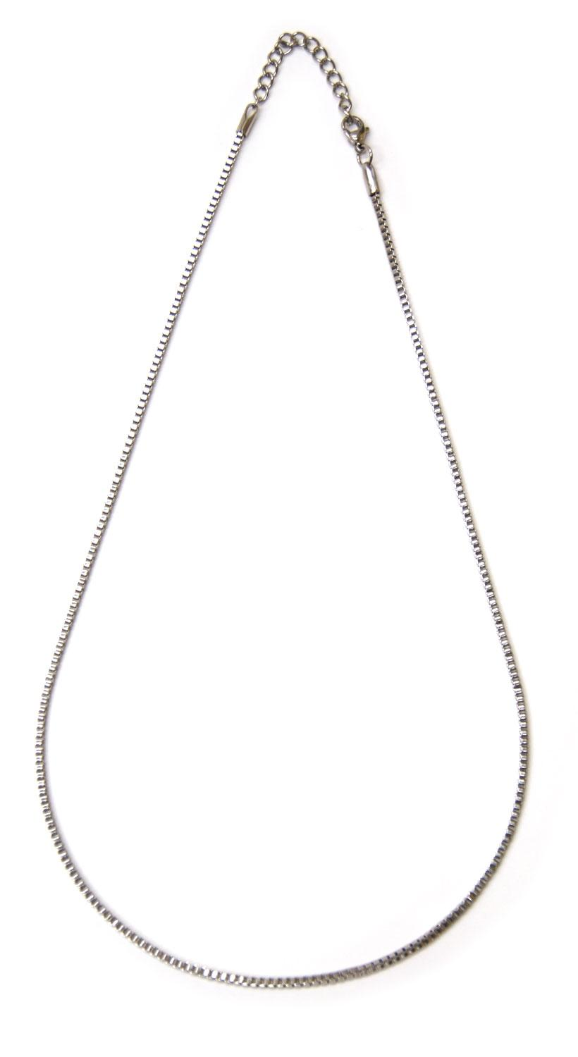 18 Stainless Steel Box Chain Necklace