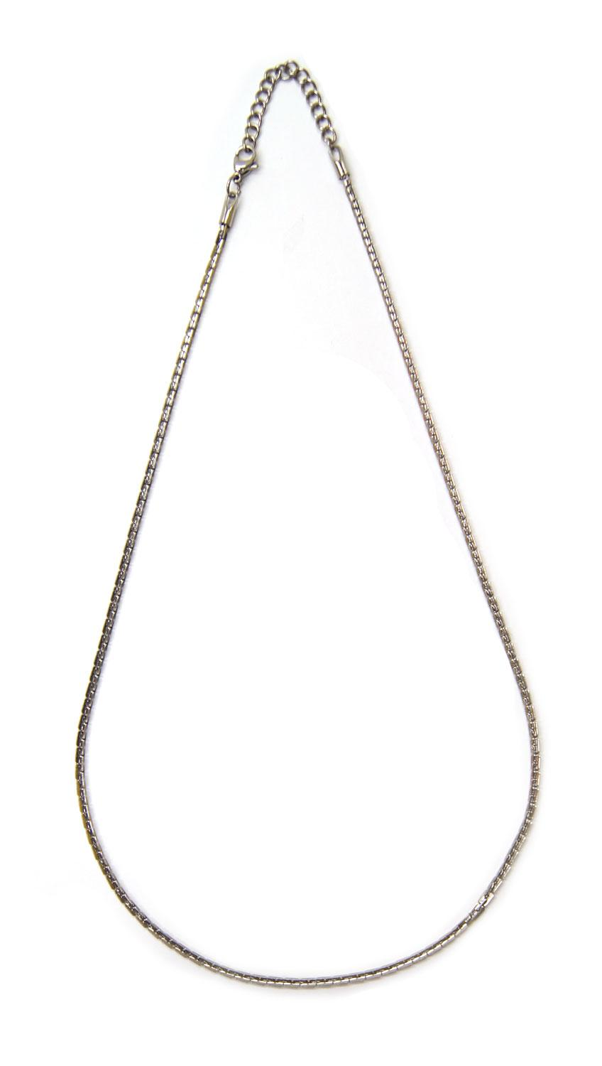 18 u0026quot  stainless steel flat rectangle chain necklace