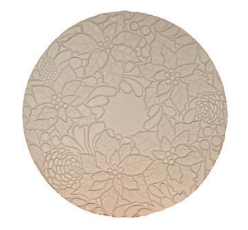 Poinsettia Round Texture Mold