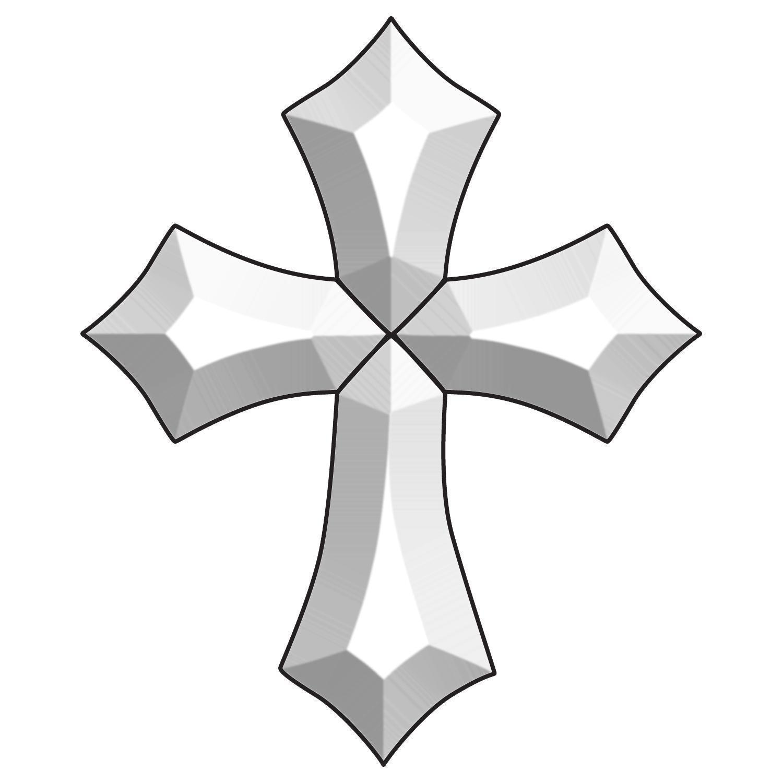 Ornate Cross Bevel Cluster