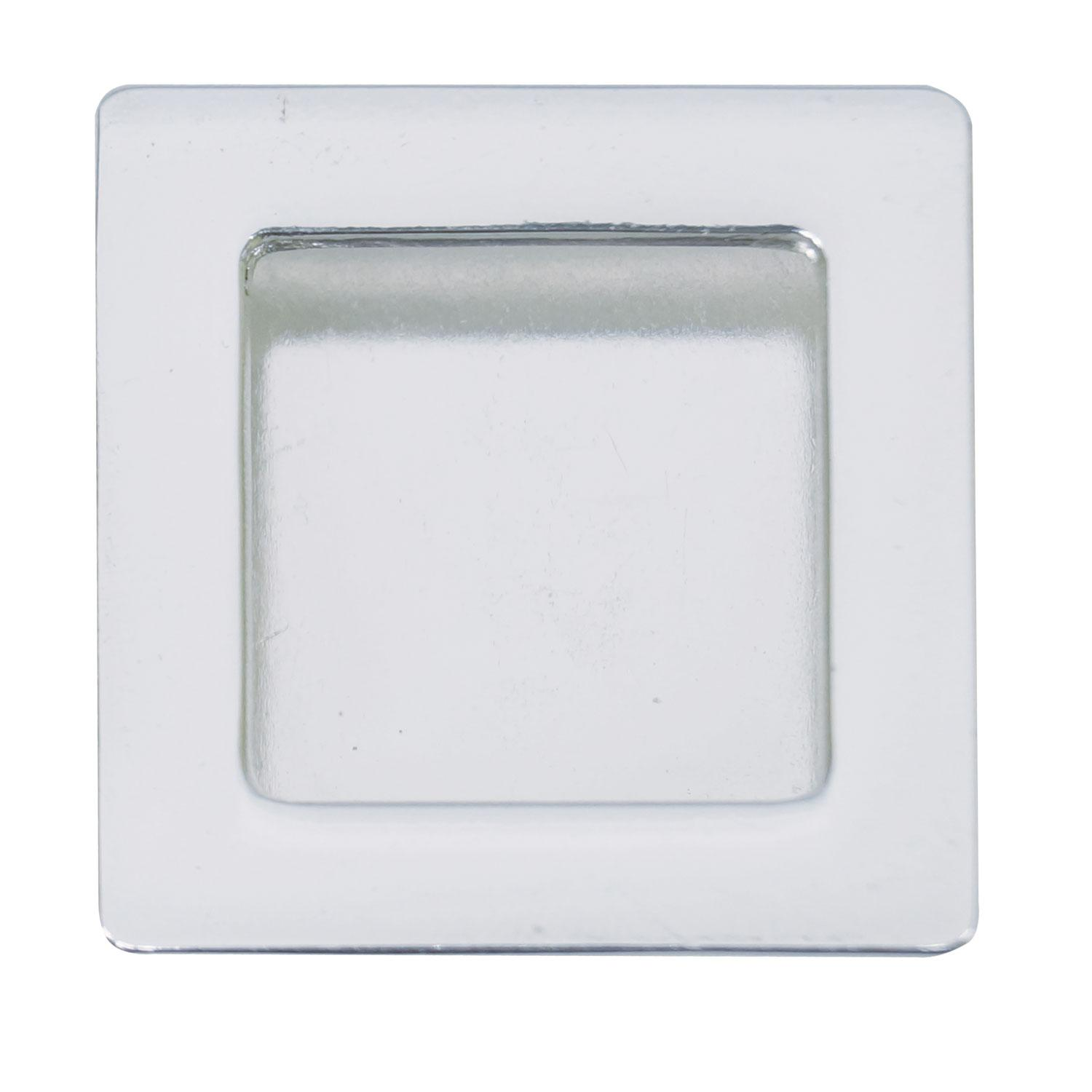 Silver Plated Square Gallery Frame Pendant