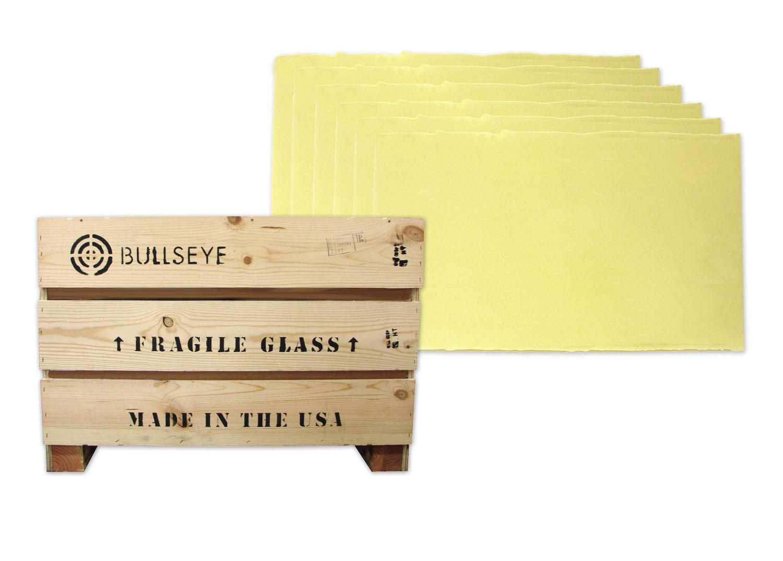 Bullseye French Vanilla Opal Double Rolled Sheet Glass - Full Case - 90 COE