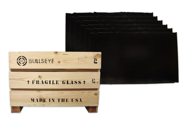 Bullseye Black Opal Double Rolled Sheet Glass - Full Case - 90 COE