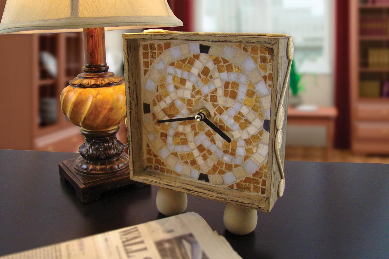 Free Distressed Mosaic Clock Project Sheet