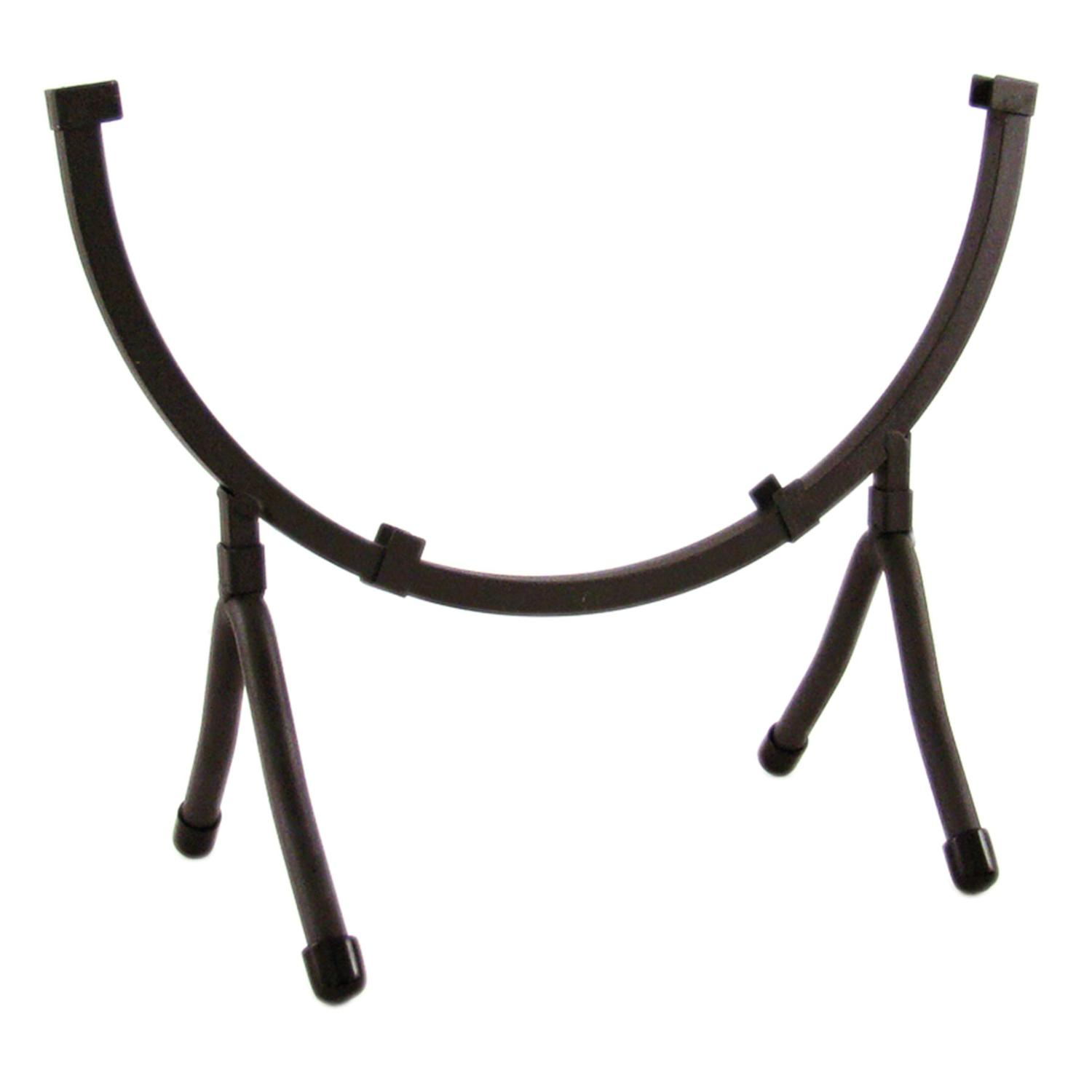 10 Round Black Iron Art Holder