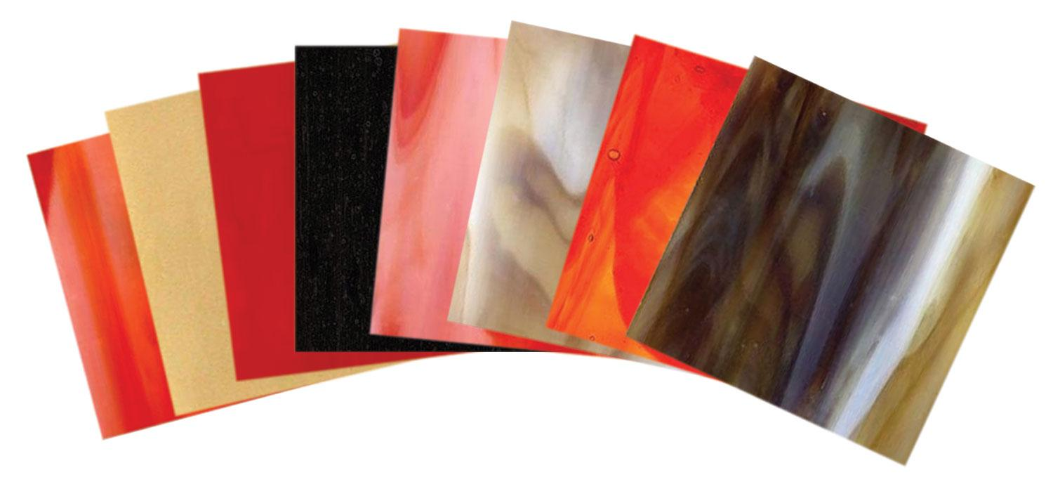 Leaded Copper Sheets : Cardinal glass pack stained sheets delphi