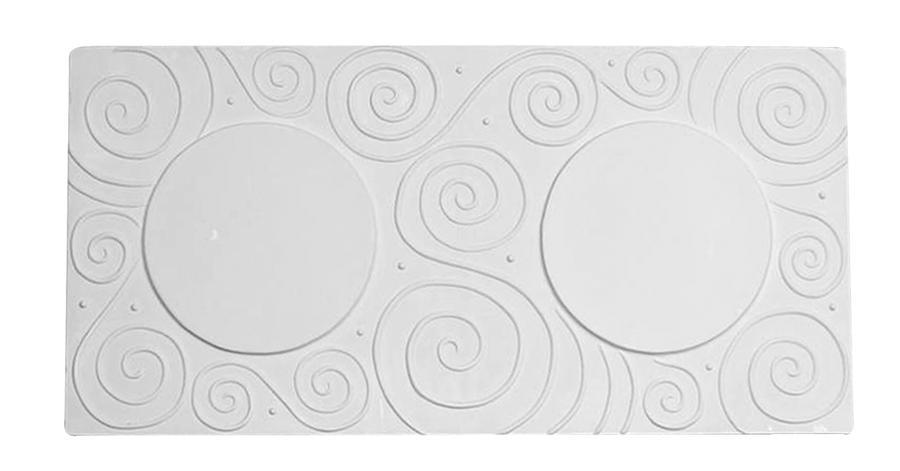 6 X 12 Swirl Texture Coaster Drape Mold