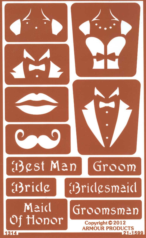 Custom Wedding Glass Etching Stencils