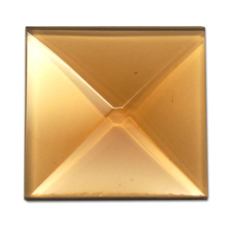 1 Square Amber Bevel box of 30