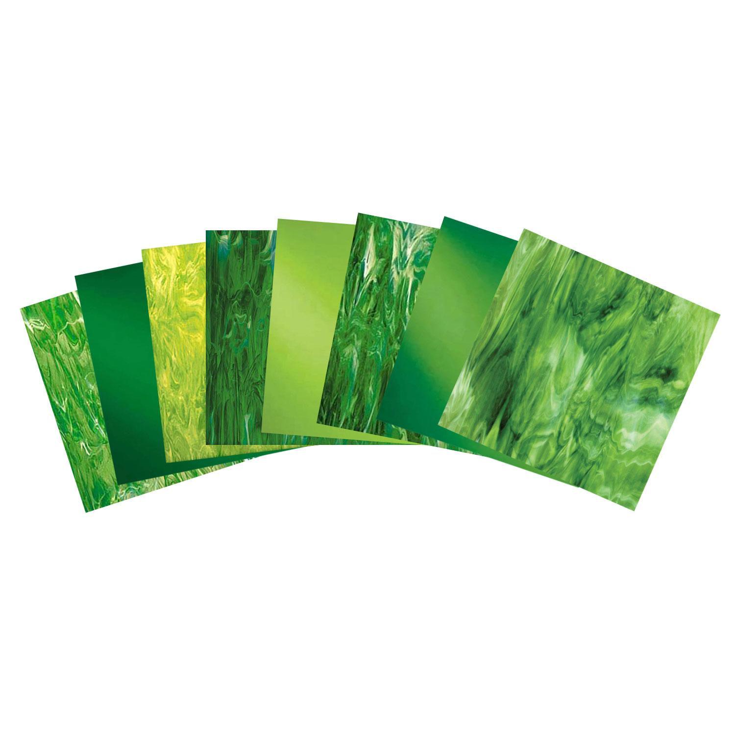It's Easy Being Green Fusible Glass Pack - 96 COE