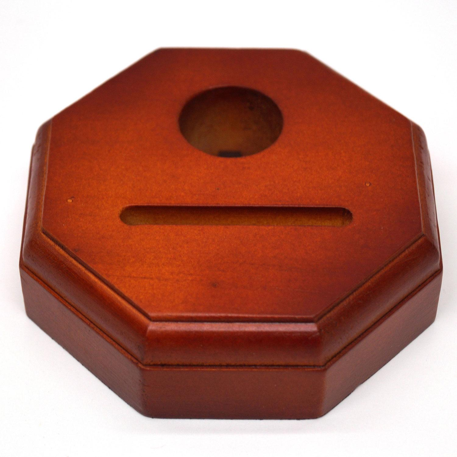 Cherry Finish Octagon Fan Lamp Base