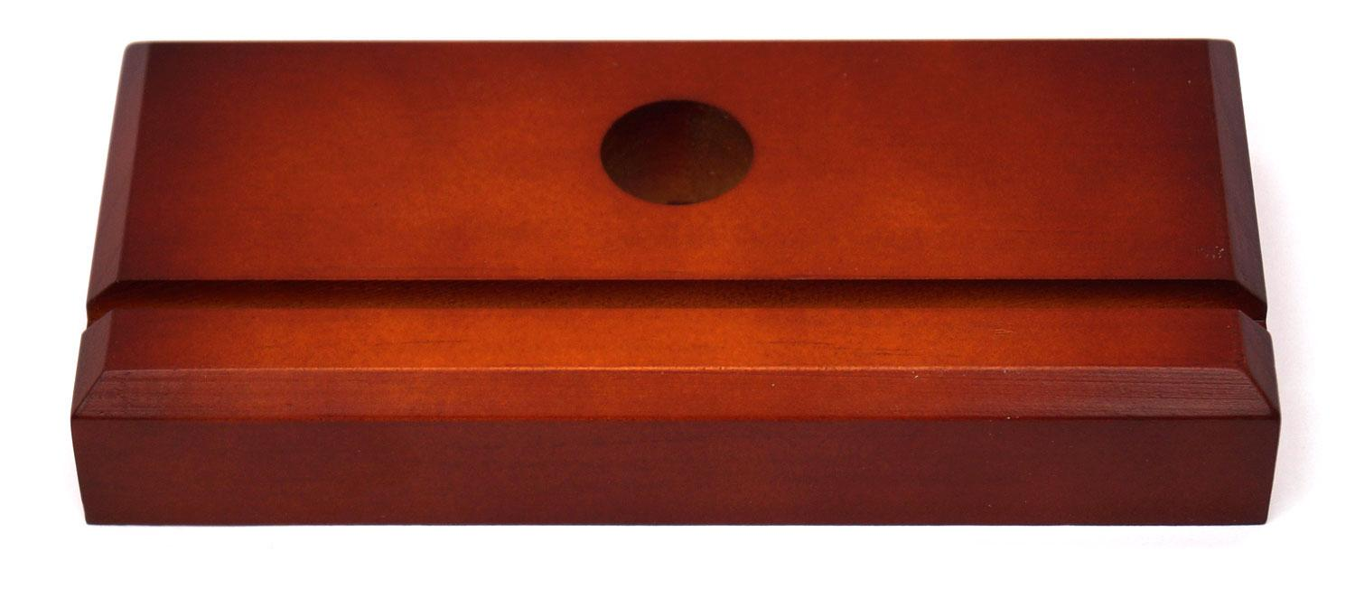 Cherry Finish Rectangle Fan Lamp Base