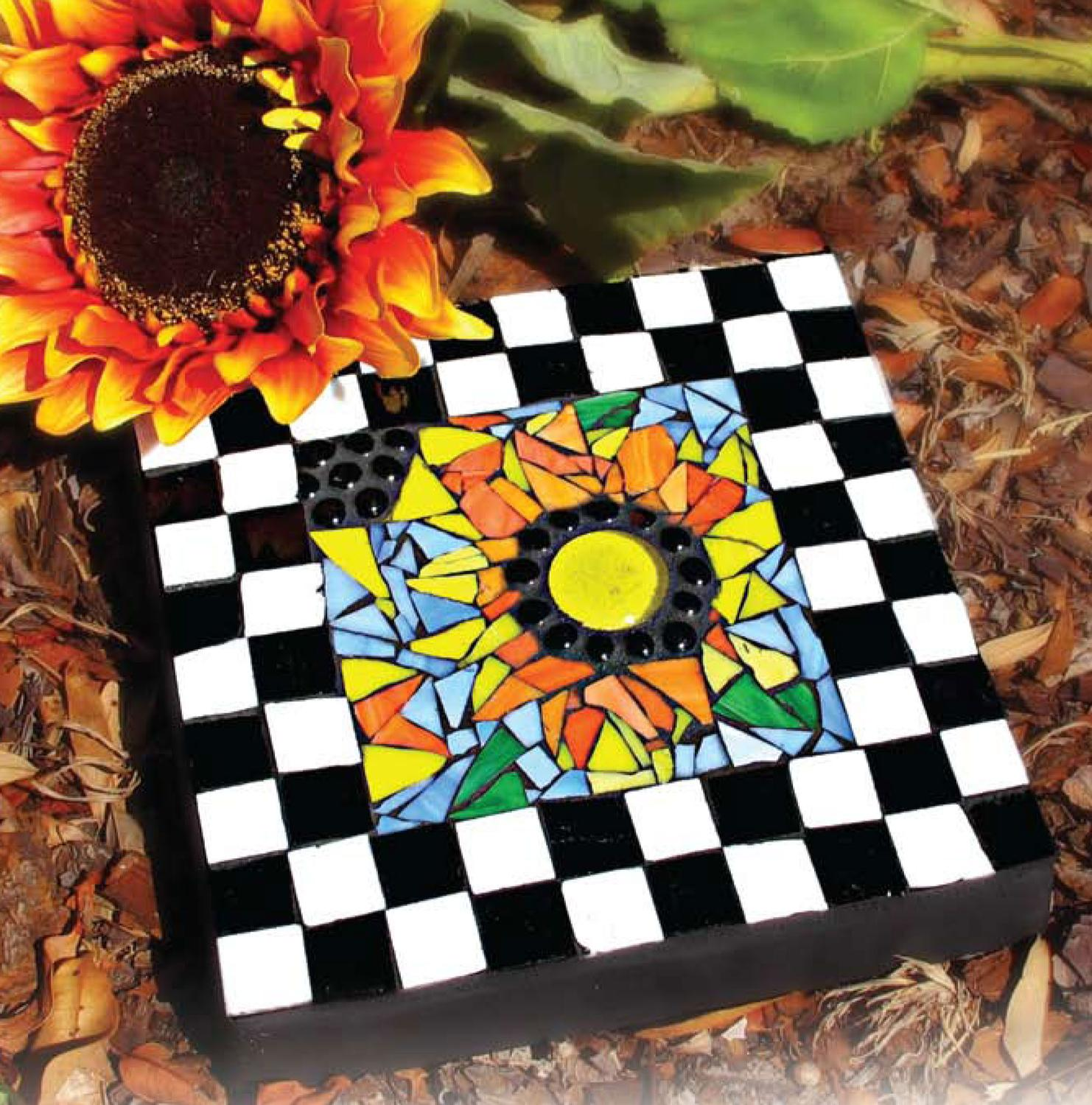 Free Sunflower Fun Mosaic Stepping Stone Project Guide
