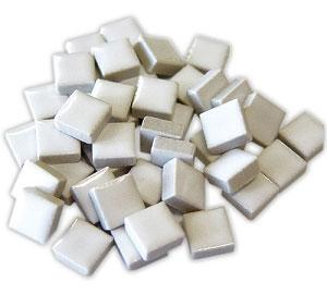 3/8 White Ceramic Tile - 1 lb