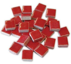 3/8 Red Ceramic Tile - 1 lb