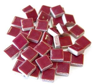 3/8 Burgundy Ceramic Tile - 1 lb