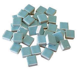 3/8 Light Blue Ceramic Tile - 1 lb