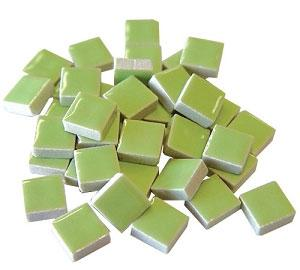3/8 Light Green Ceramic Tile - 1 lb