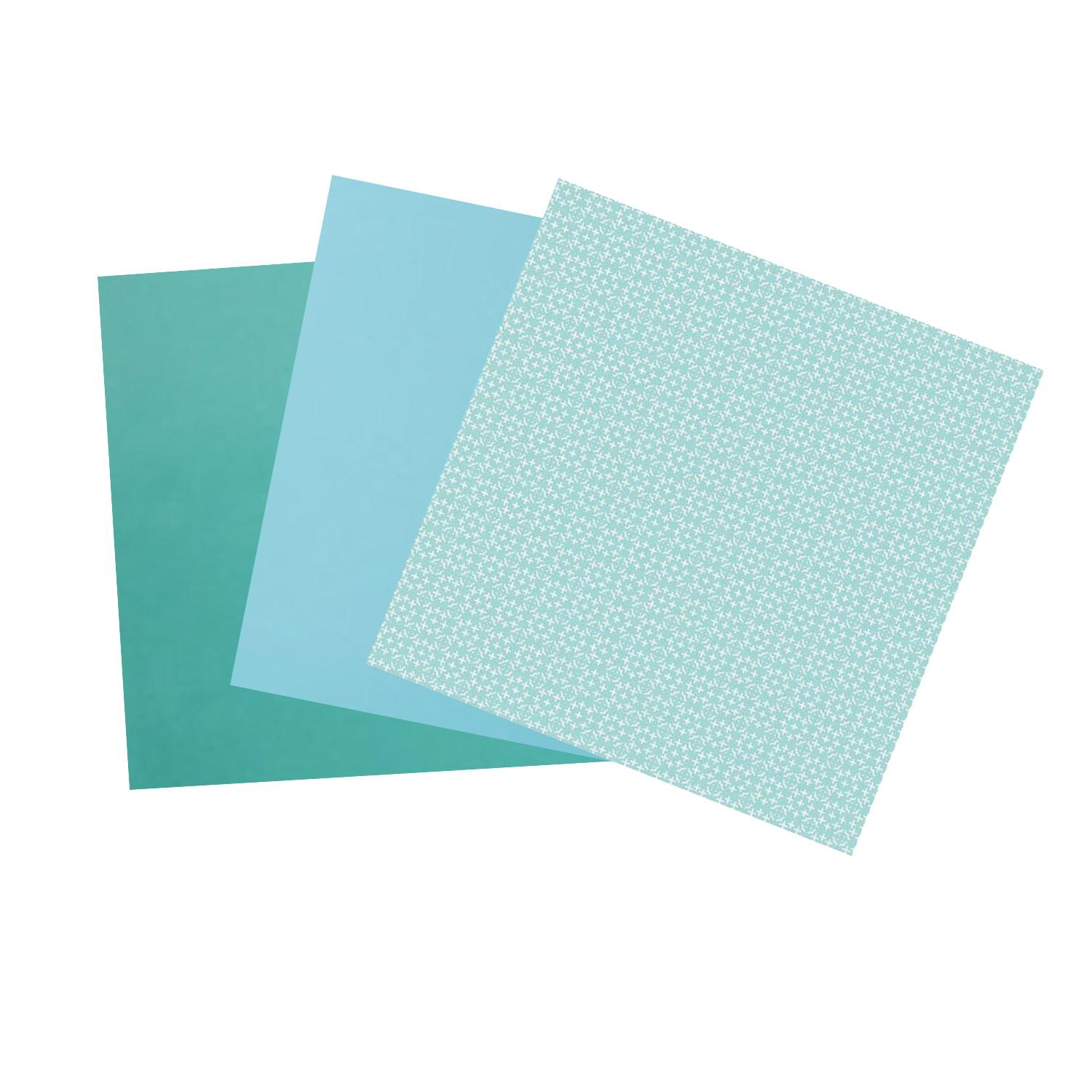 Terrific Trio Painted Turquoise Opalescent Glass Pack