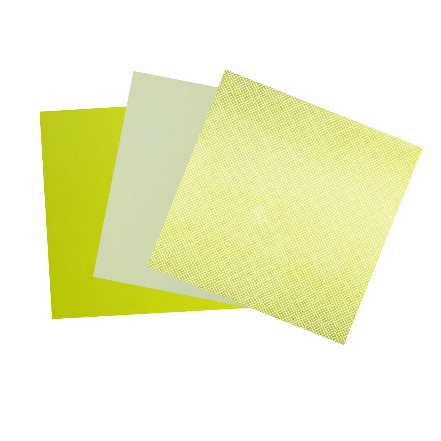 Terrific Trio Painted Yellow Opalescent Glass Pack