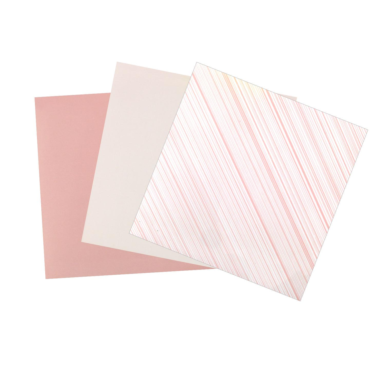 Terrific Trio Painted Pink Opalescent Glass Pack